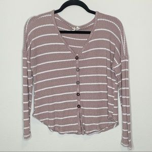 Sky and Sparrow Button Tie Front Top Size Small